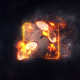Burning Fire Logo - VideoHive Item for Sale