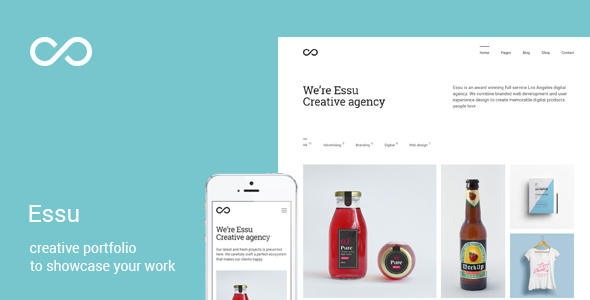 Essu - Minimal Portfolio for WordPress - Portfolio Creative