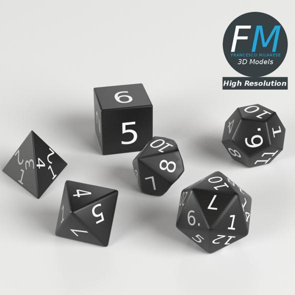 RPG Dices set - 3DOcean Item for Sale