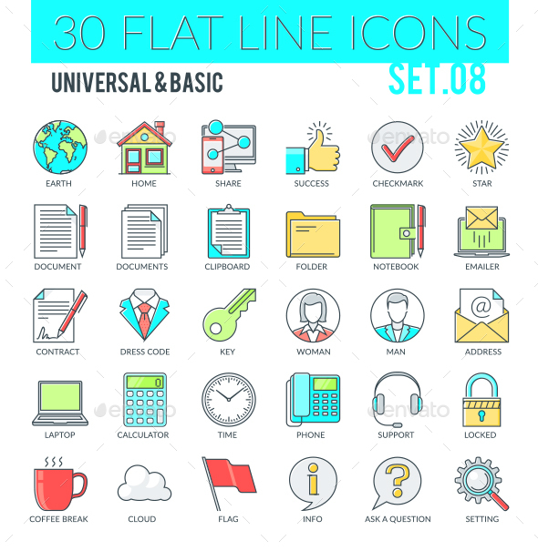 Universal & Basic Icons - Web Icons