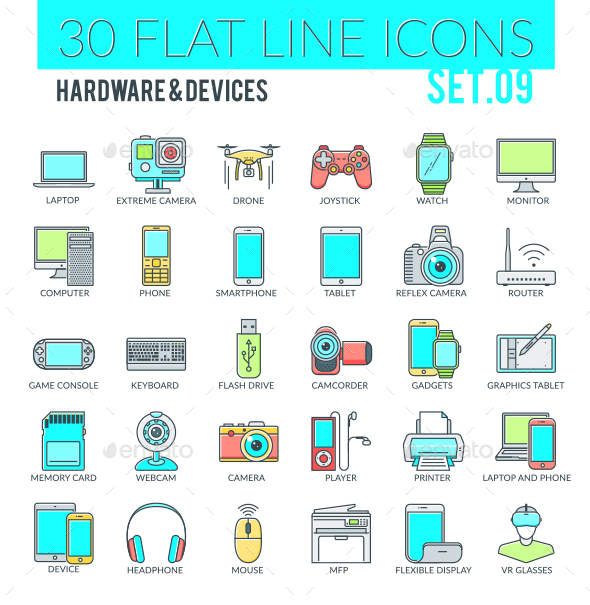 Hardware & Devices Icons - Technology Icons