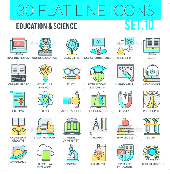 Education & Science Icons - Web Icons