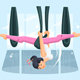 Girl in Hammock Doing Fly Yoga - GraphicRiver Item for Sale