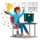 Cyber Sport Player Vector
