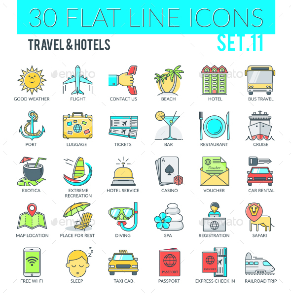 Travel & Hotels Icons - Web Icons