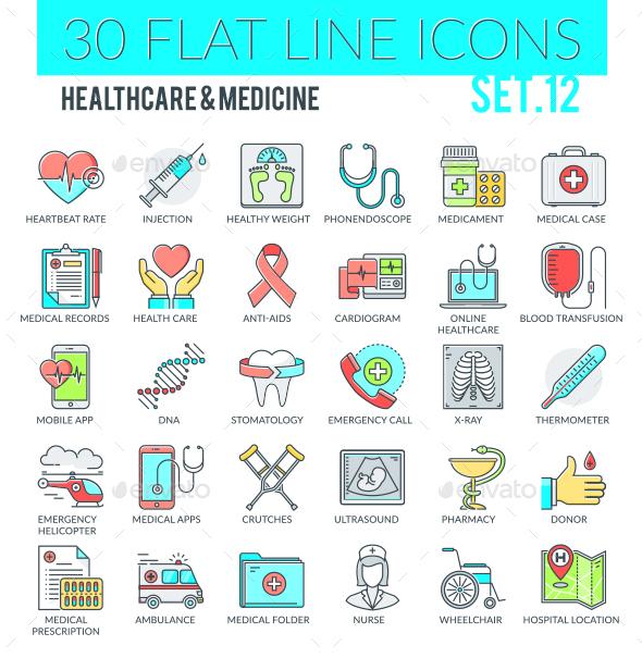 Healthcare & Medicine Icons - Web Icons