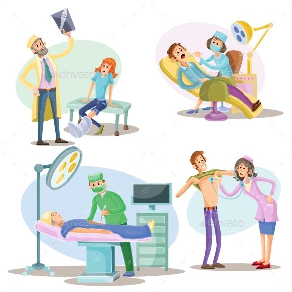 Medical Examination and Treatment Vector - Health/Medicine Conceptual