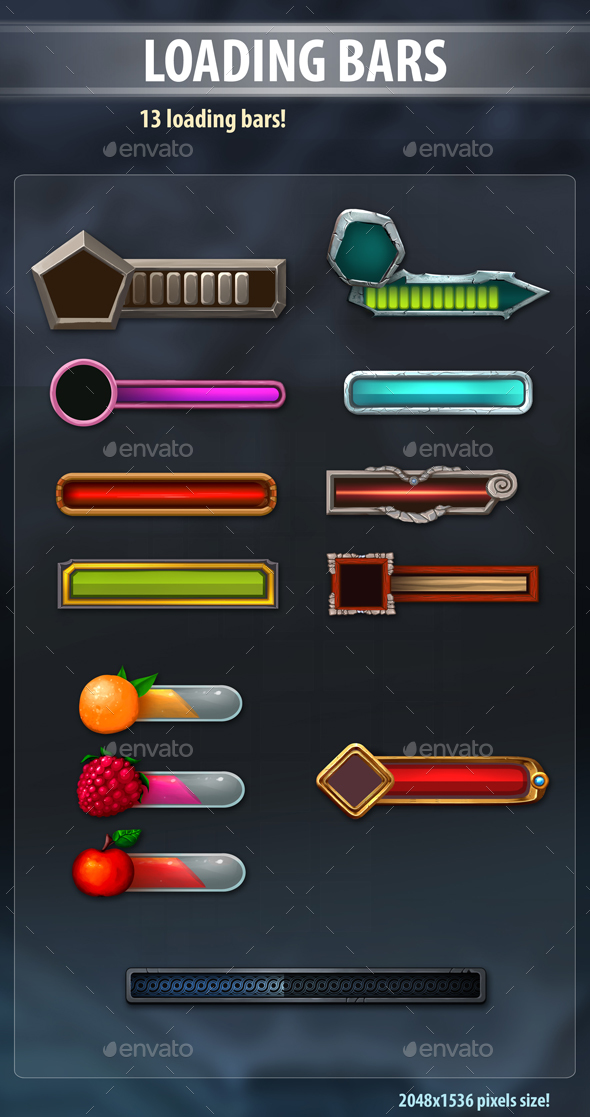 Loading Bars - Miscellaneous Game Assets