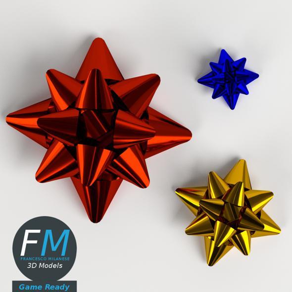 Star ribbons bows GR - 3DOcean Item for Sale