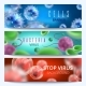 Microbiology and Medical Vector Web Banners