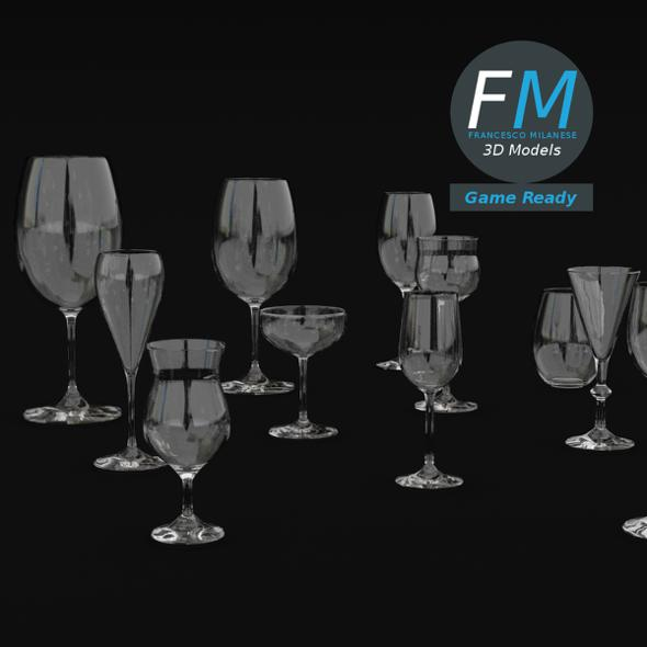 Wine Glasses GR - 3DOcean Item for Sale