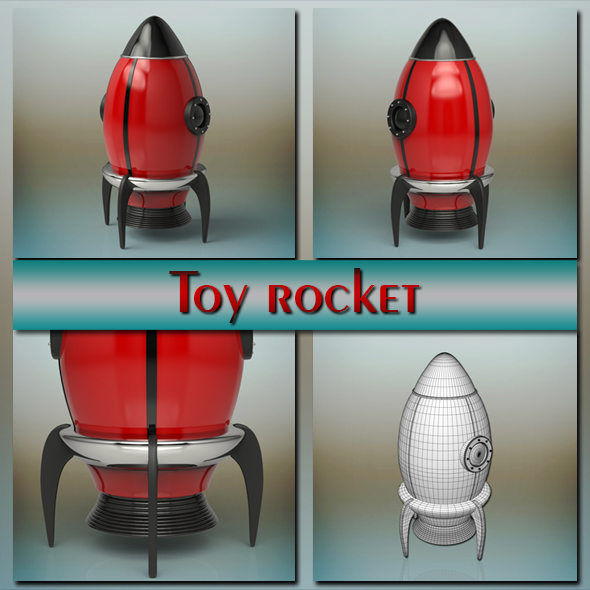 Toy Rocket - 3DOcean Item for Sale