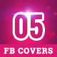 Valentine's Day Facebook Covers - 5 Designs - GraphicRiver Item for Sale