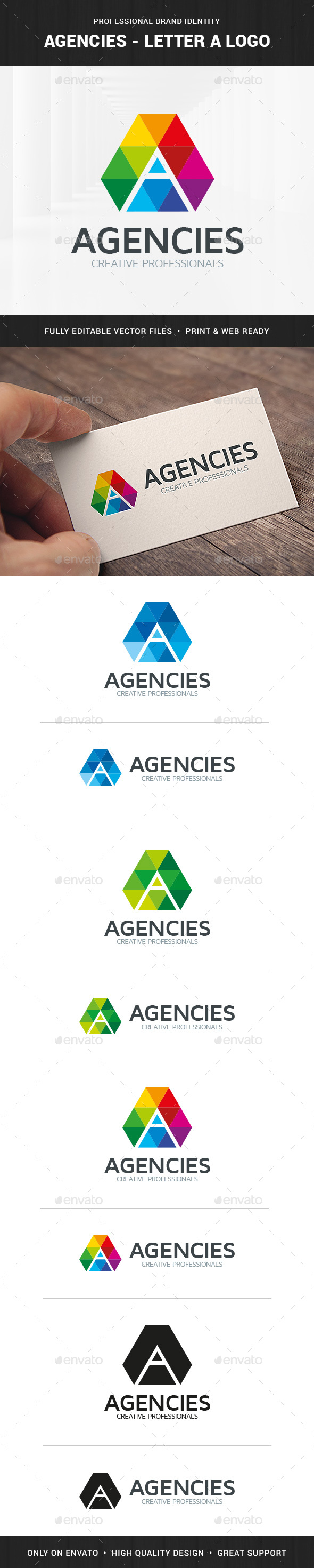 Agencies - Letter A Logo - Letters Logo Templates