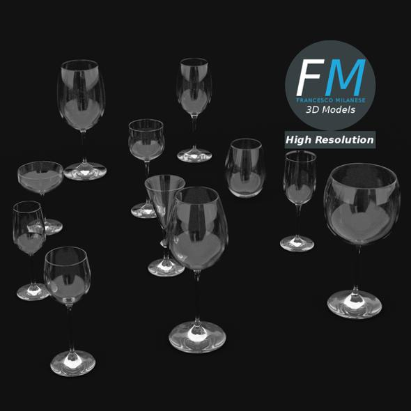 Wine Glasses - 3DOcean Item for Sale
