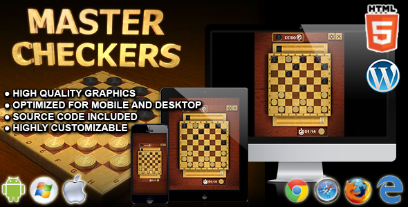 Master Checkers - HTML5 Board Game - CodeCanyon Item for Sale