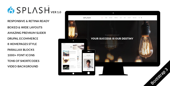 Image of Splash - Multi-Purpose Bootstrap Drupal 8.4 Theme