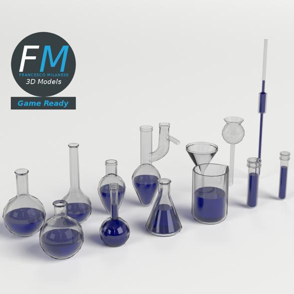 Laboratory Glassware set GR - 3DOcean Item for Sale