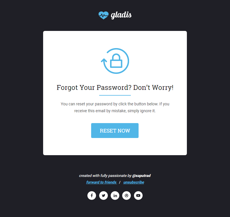 Gladis, Business Email Templates Pack + Builder Access by saputrad