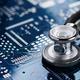 Medical stethoscope and electronics - PhotoDune Item for Sale