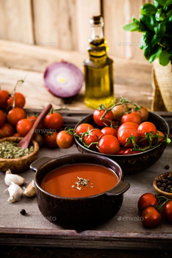 Tomato soup - Stock Photo - Images