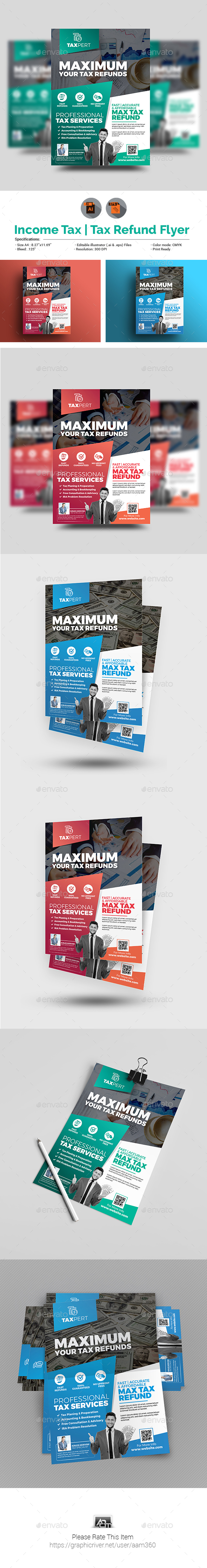 Income Tax/Tax Refund Flyer Template - Corporate Flyers