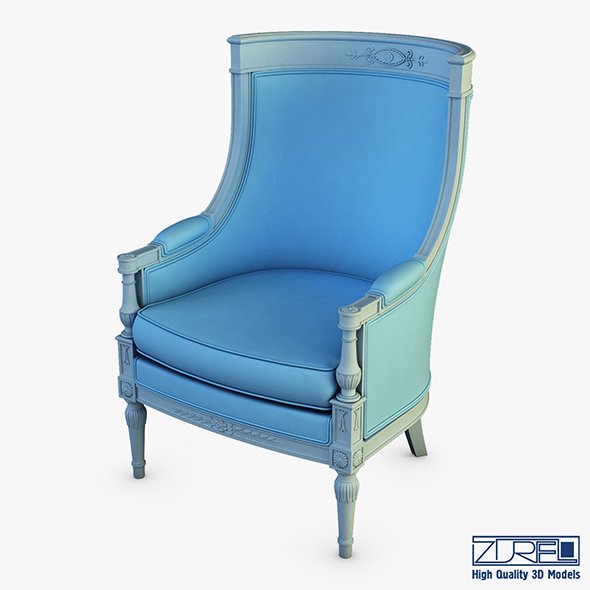 19th Century french bergere armchair - 3DOcean Item for Sale
