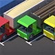 Truck Car Low Poly Pack Rigged 3D model