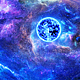 Flying Through Abstract Colorful Nebulae in Space to the Big Blue Star and Planets - VideoHive Item for Sale