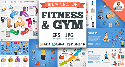Fitness and Gym Concepts