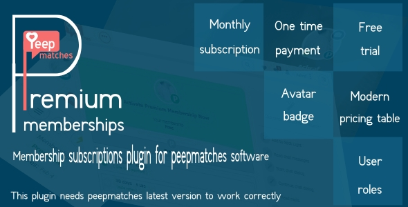 Premium memberships - for peepmatches - CodeCanyon Item for Sale
