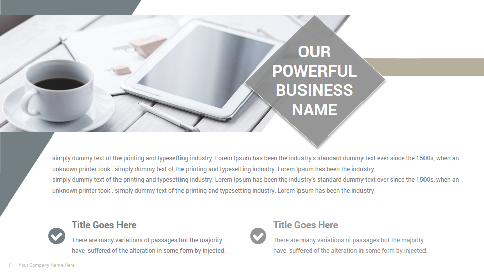 Cilo Presentation Template - Envato Freebie May 2019
