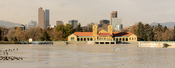 Lake Waterfowl Birds Ferril Park Denver Colorado - Stock Photo - Images