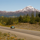 Vintage Car Travels North Highway Alaska Mountain Range Transportation - PhotoDune Item for Sale