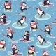 Seamless Pattern with Penguins