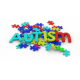 Colorful Puzzle and Word Autism