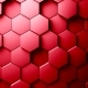Abstract Hexagons Background Random Motion, Red Color - VideoHive Item for Sale