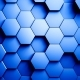 Abstract Hexagons Background Random Motion, Blue Color - VideoHive Item for Sale