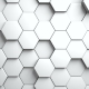 Abstract Hexagons Background Random Motion. White Color - VideoHive Item for Sale