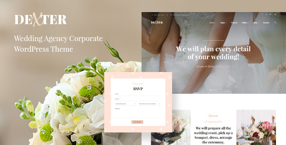 Dexter - Wedding Agency Corporate Theme - Wedding WordPress