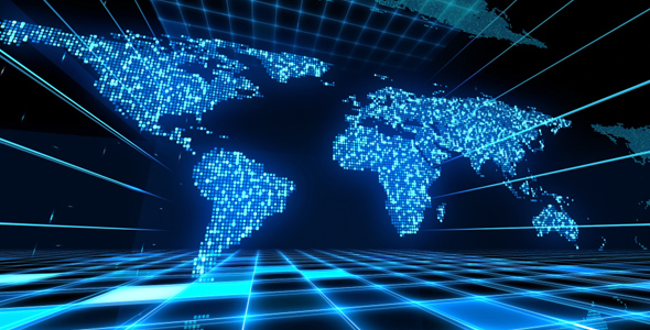 Digital world map by as100 videohive digital world map gumiabroncs Gallery