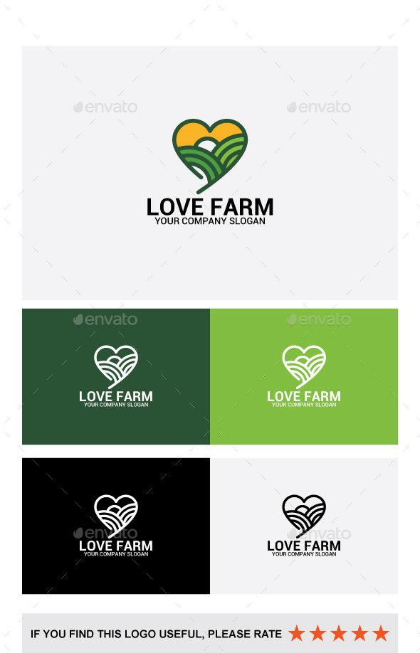 LOVE FARM - Abstract Logo Templates