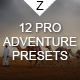 12 Pro Adventure Presets - GraphicRiver Item for Sale