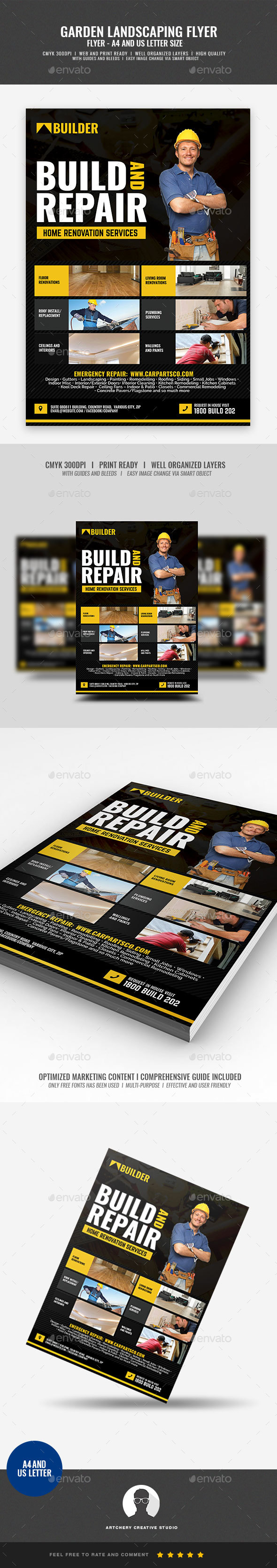Construction and Renovation Services Flyer - Corporate Flyers