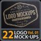 22 Photorealistic Logo Mock-ups Vol.01