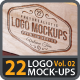 22 Photorealistic Logo Mock-ups Vol.02