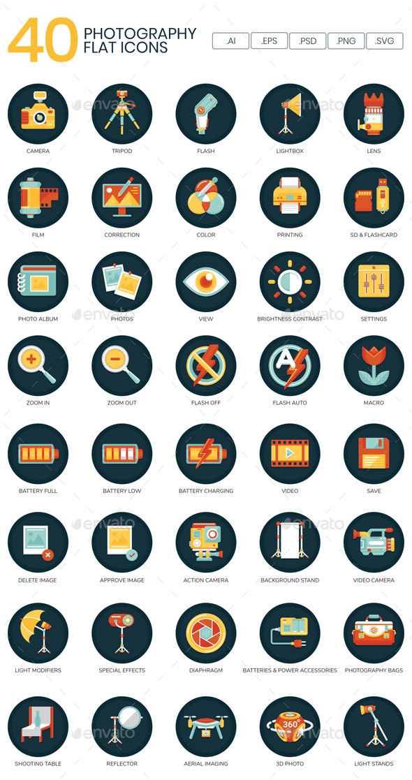 Photography Icons - Technology Icons
