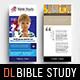 Bible Study Rack Card Template