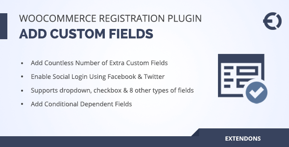 Woocommerce Registration Plugin, Add Custom Registration Fields - CodeCanyon Item for Sale