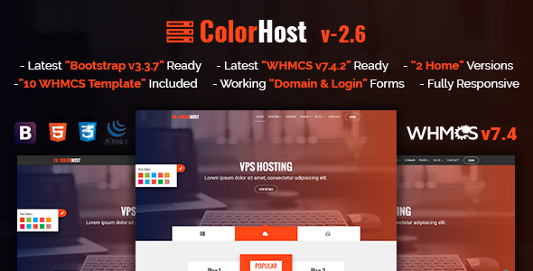 ColorHost | Responsive HTML5 Web Hosting and WHMCS Template